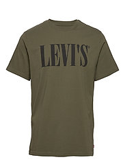 RELAXED GRAPHIC TEE 90S SERIF - GREENS