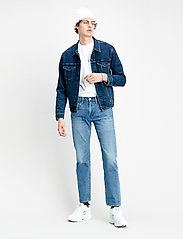 LEVI´S Men - THE TRUCKER JACKET MOON LIT TR - farkkutakit - dark indigo - flat finish - 0