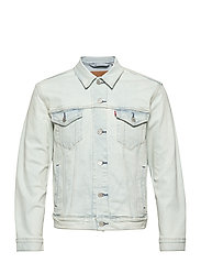 THE TRUCKER JACKET PALE SHADE - LIGHT INDIGO - FLAT FINIS
