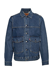 PATCH POCKET TRUCKER GEAR BOX - MED INDIGO - FLAT FINISH
