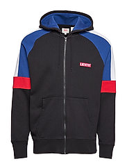 PIECED FULLZIP HOODIE PIECED F - MULTI-COLOR