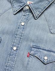 LEVI´S Men - BARSTOW WESTERN STANDARD RED C - linnen overhemden - dark indigo - worn in - 2