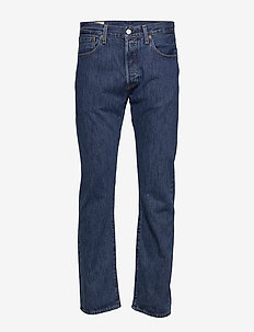 501 LEVISORIGINAL STONEWASH 80 - regular jeans - med indigo - flat finish