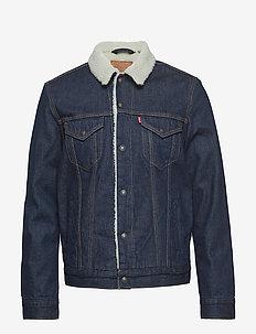 TYPE 3 SHERPA TRUCKER ROCKRIDG - jeansjacken - med indigo - worn in