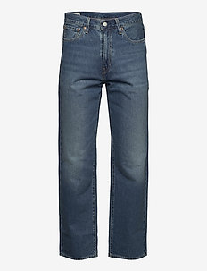 STAY LOOSE DENIM EYED HOOK - relaxed jeans - med indigo - worn in