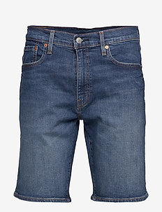 502 TAPER SHORTS 10 PANETTONE - jeansshorts - med indigo - worn in