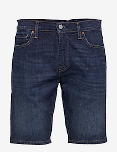 502 TAPER SHORTS 10 RAINSHOWER - short en jean - dark indigo - worn in