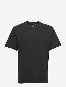 RELAXED FIT POCKET TEE GARMENT - podstawowe koszulki - blacks