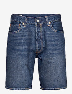 501 HEMMED SHORT FIRE GOIN SHO - jeansowe szorty - med indigo - flat finish
