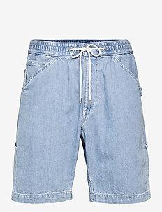 MARINE CARPENTR SHORT 9 DEADEY - jeansshorts - light indigo - worn in