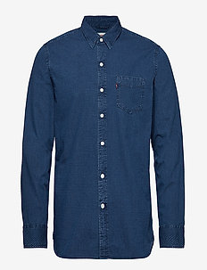 SUNSET 1 POCKET SHIRT WHEATLAN - BLUES