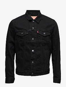 THE TRUCKER JACKET BERKMAN - jeansjackor - blacks