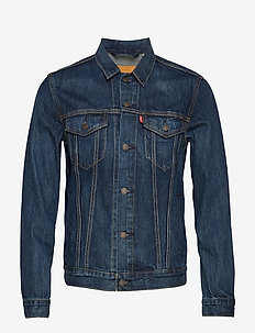THE TRUCKER JACKET PALMER TRUC - spijkerjassen - med indigo - worn in