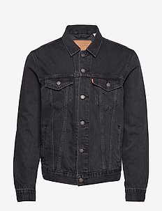 THE TRUCKER JACKET LIQUORICE T - farkkutakit - greys
