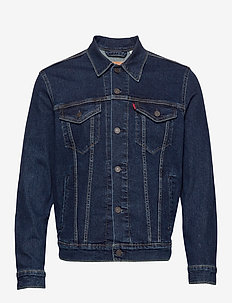 THE TRUCKER JACKET MOON LIT TR - farkkutakit - dark indigo - flat finish