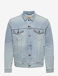 THE TRUCKER JACKET COLDER THAN - denim jackets - light indigo - worn in