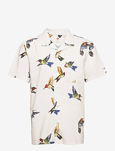 CUBANO SHIRT HUMMINGBIRD BRIGH - short-sleeved shirts - multi-color