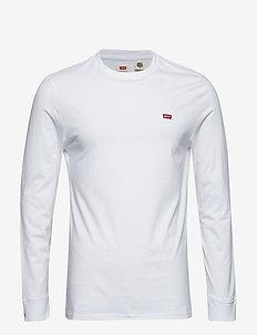 LS ORIGINAL HM TEE LS COTTON + - langermede t-skjorter - neutrals