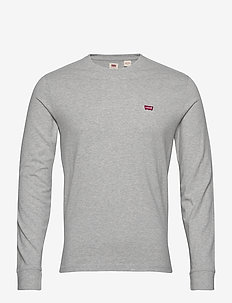 LS ORIGINAL HM TEE MEDIUM GREY - basic t-shirts - greys