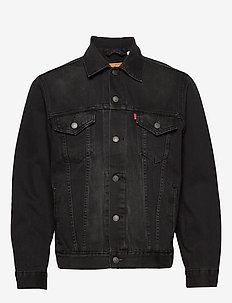 VINTAGE FIT TRUCKER V BLACK TR - spijkerjassen - blacks