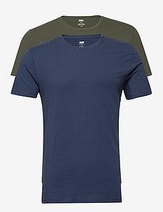 SLIM 2PK CREWNECK 1 2PK SLIM C - podstawowe koszulki - multi-color