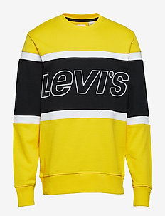 PIECED CREW SWEATSHIRT JERSEY - MULTI-COLOR