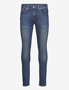 SKINNY TAPER BAND WAGON ADV - skinny jeans - dark indigo - worn in