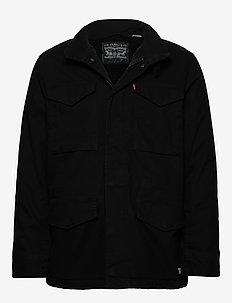 SHERPA FIELD COAT BLACK 05157 - wollmäntel - blacks