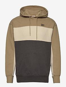 WAVY COLORBOCK HOODIE WAVY COL - hoodies - multi-color