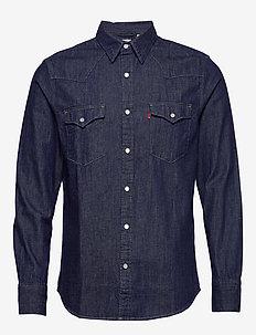 BARSTOW WESTERN STANDARD RED C - denim shirts - blues
