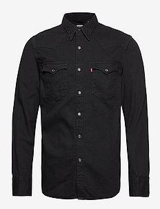 BARSTOW WESTERN STANDARD MARBL - jeanshemden - blacks