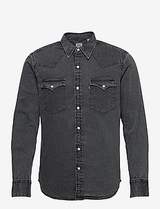 BARSTOW WESTERN STANDARD MARBL - chemises basiques - blacks