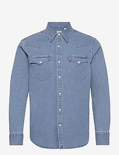 BARSTOW WESTERN STANDARD AUTHE - rutiga skjortor - light indigo - worn in