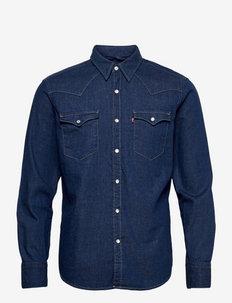 BARSTOW WESTERN STANDARD LOWDI - basic overhemden - dark indigo - flat finish