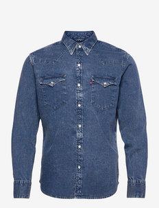 BARSTOW WESTERN STANDARD FLAT - basic overhemden - light indigo - worn in