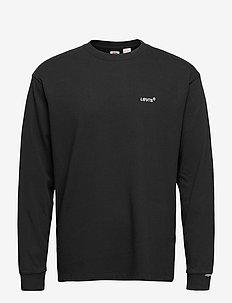 LS RED TAB TEE MINERAL BLACK - basic t-shirts - blacks