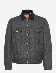 LINED VTG FIT TRUCKER GREY HER - jeansjackor - greys