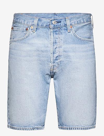 501 HEMMED SHORT MOUNTAIN GOAT - short en jean - light indigo - worn in