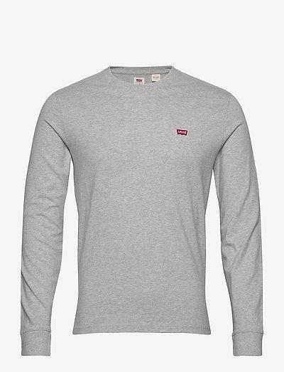 LS ORIGINAL HM TEE MEDIUM GREY - t-shirts basiques - greys