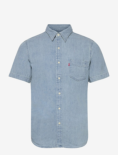 SS CLASSIC 1 PKT STANDRD RED C - checkered shirts - blues