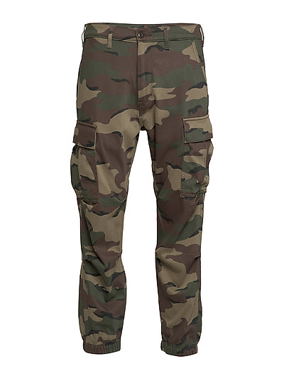 Tapered Cargo Wave Camo Wild C Trousers Cargo Pants Grün LEVI'S MEN