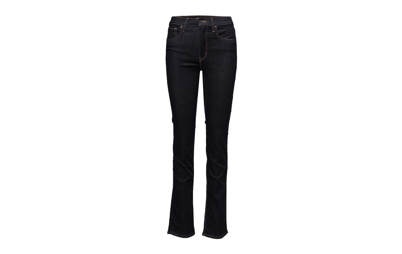 Elastane 724 6 Straight 9 Finish The Coton Flat Elastomultiester Levi´s Women Indigo To High Équipement Rise Dark 85 56TaI