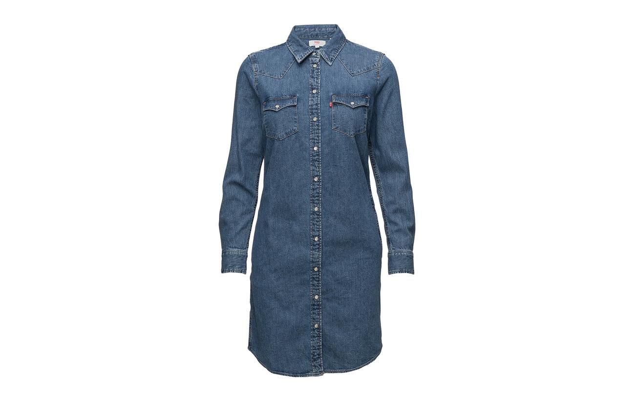 Women Dress Western 100 Finish Med Indigo Coton Ultimate To Flat Levi´s Back OSqdtOw