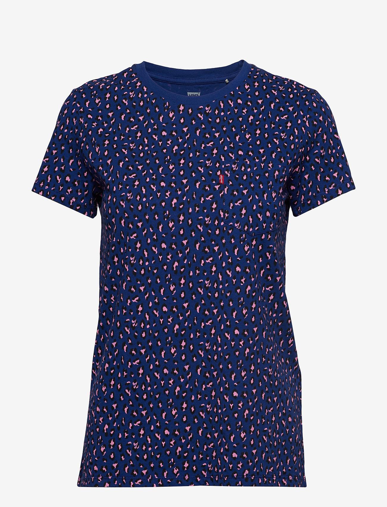 LEVI´S Women - THE PERFECT CREW FUN LEOPARD S - t-shirts - blues