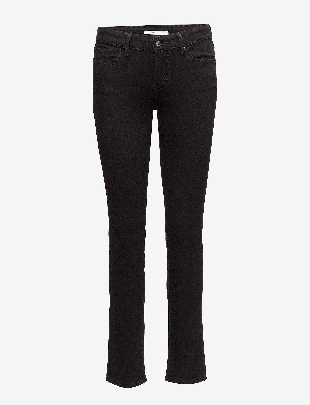 LEVI´S Women - 712 SLIM NIGHT IS BLACK - džinsa bikses ar tievām starām - blacks - 0