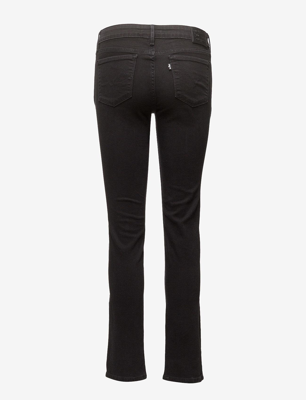 LEVI´S Women - 712 SLIM NIGHT IS BLACK - džinsa bikses ar tievām starām - blacks - 1