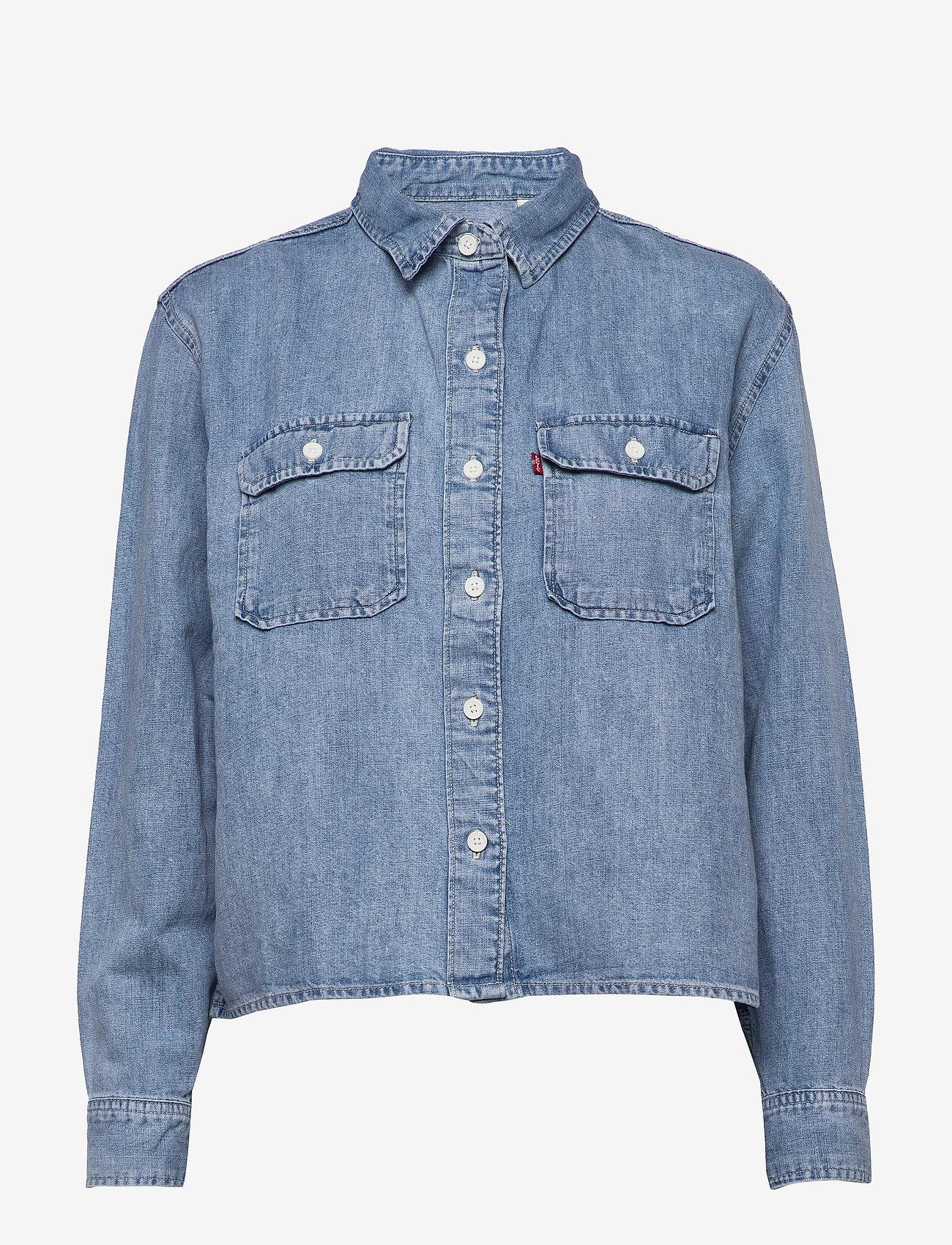 LEVI´S Women - OLSEN UTILITY SHIRT LOOSEY GOO - chemises en jeans - light indigo - worn in - 0