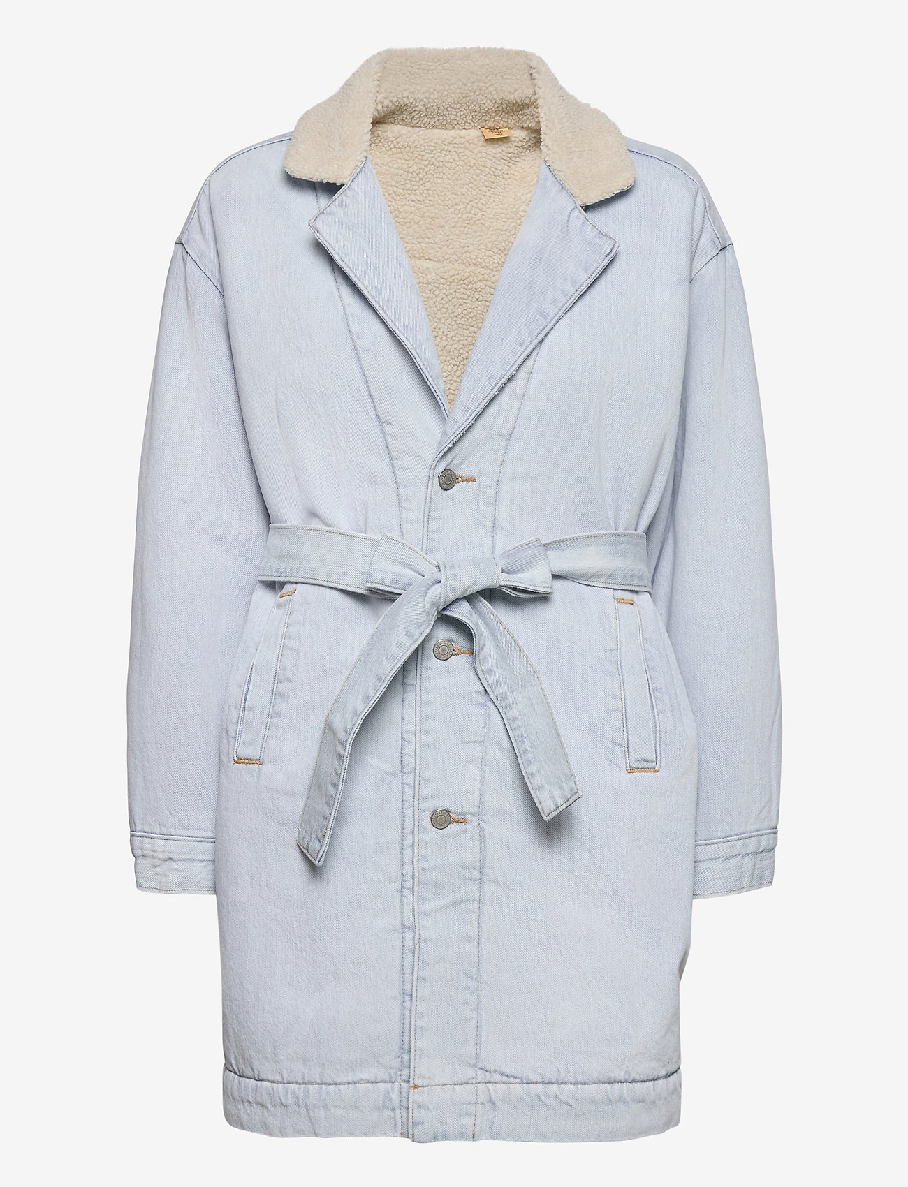 LEVI´S Women - REVERSIBLE SHERPA COAT REVERSE - lette frakker - med indigo - worn in - 1