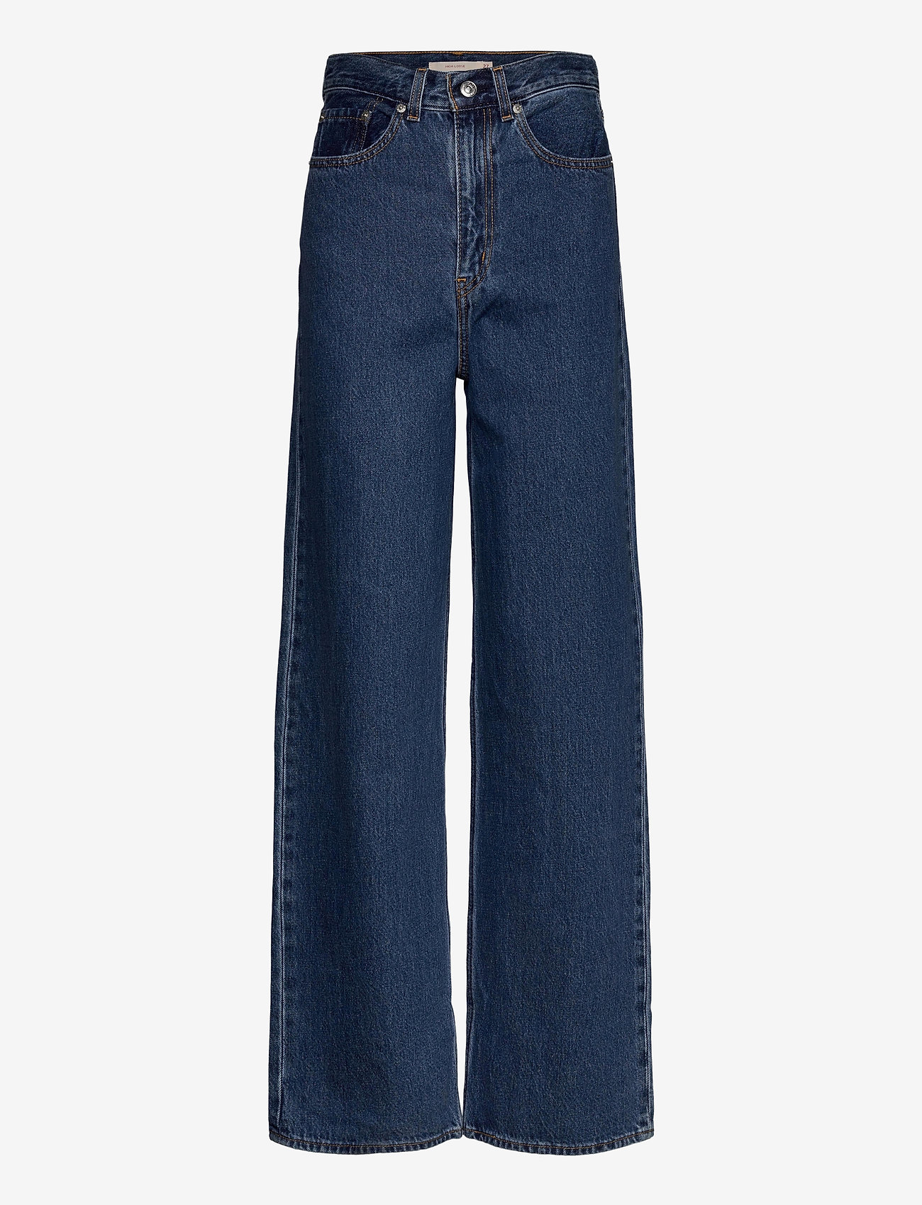 LEVI´S Women - HIGH LOOSE LAZY SUNDAY - brede jeans - med indigo - flat finish - 1