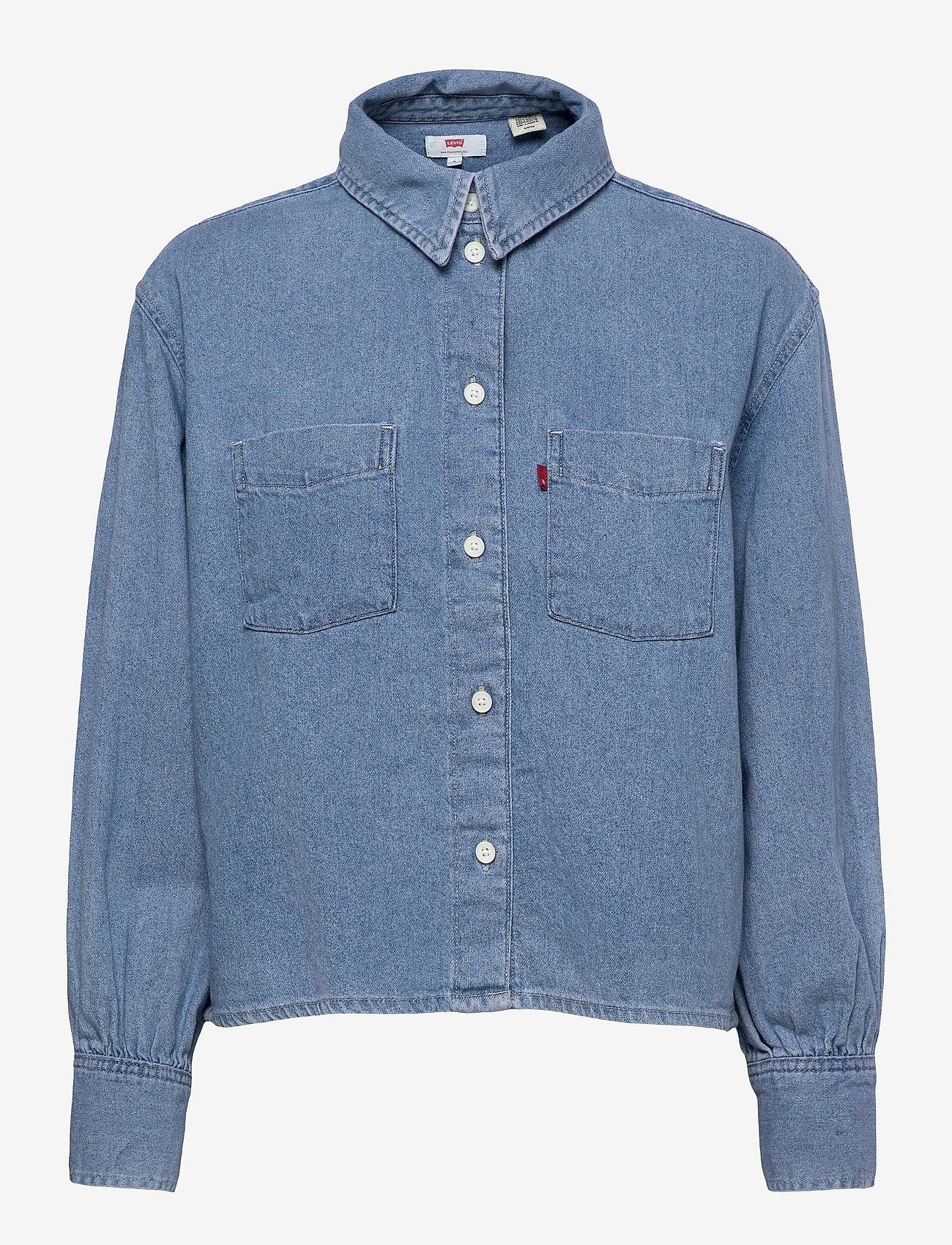 LEVI´S Women - ZOEY PLEAT UTILITY SHIRT STAY - langærmede skjorter - med indigo - flat finish - 0